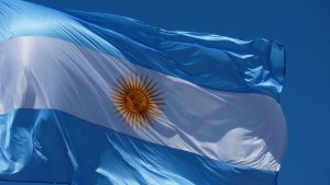 Argentina flag debt collection