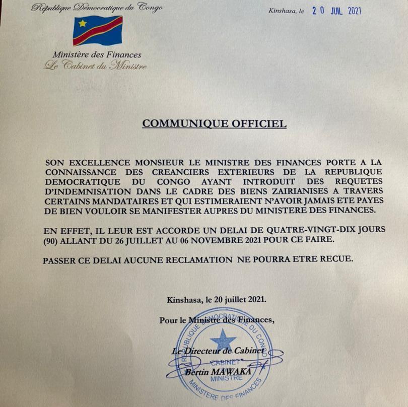 Congo expropriation